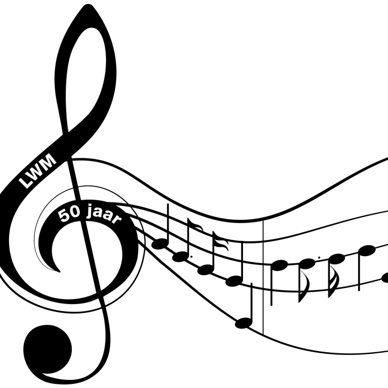 Logo LWM 50 jaar + noten klein